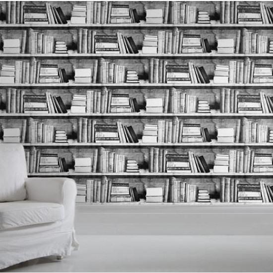 Mineheart Photocopy Bookshelf Wallpaper