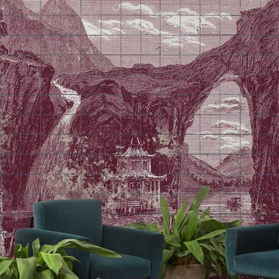 Coordonne Illustration Tiles Mural Wallpaper