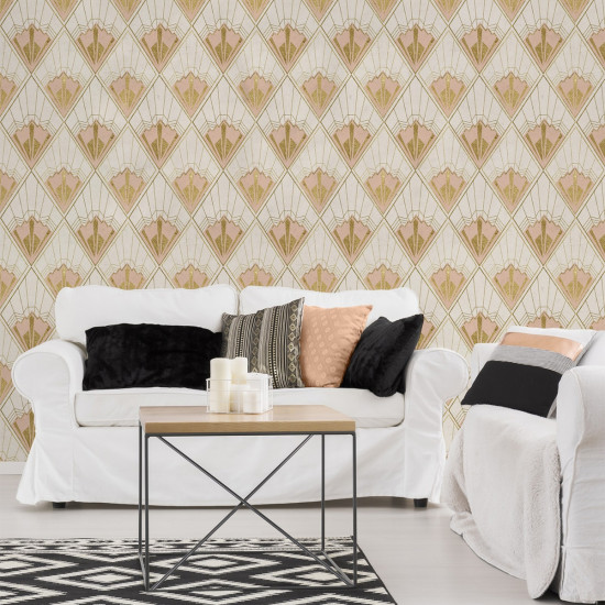 Mind The Gap Revival Wallpaper - Taupe