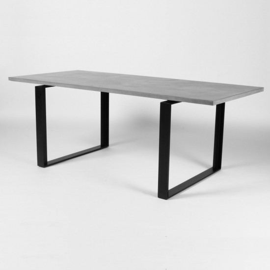 Concrete Dining Room Table: Lyon Beton Alps Concrete Dining Table
