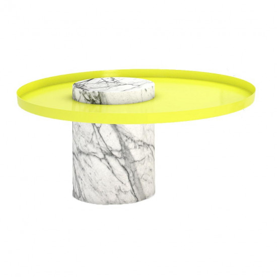 La Chance Salute Marble Side Table - Low