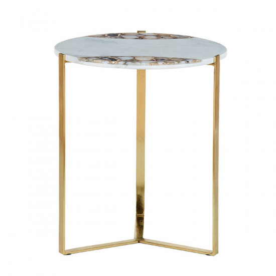 white marble yellow agate side table beut co uk rh beut co uk faux agate side table agate side table world market