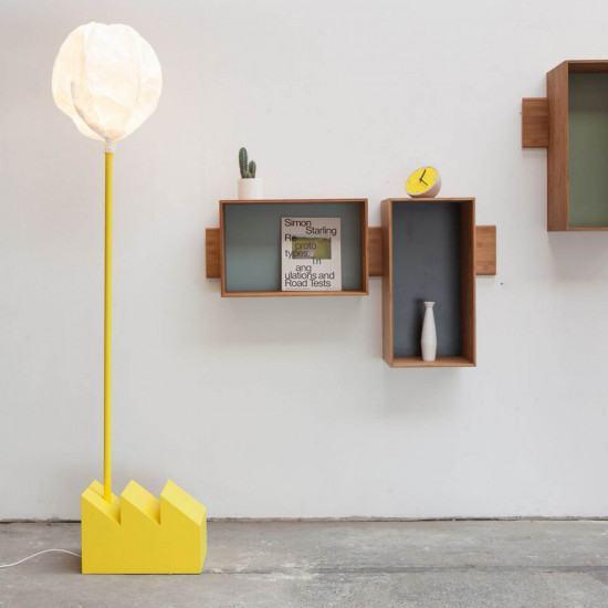 Vertigo Bird Smoke Factory Floor Lamp - Yellow