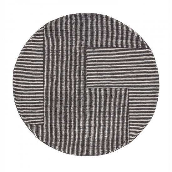 Tom Dixon Round Stripe Rug - Black / White