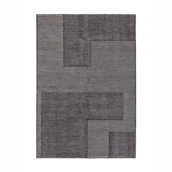 Tom Dixon Rectangular Stripe Rug - Black / White