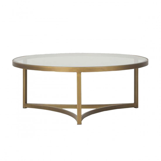 Glass Brass Coffee Table Large Beut Co Uk