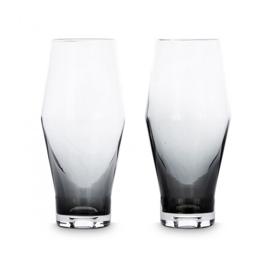 Tom Dixon Tank Beer Glasses x2 - Black