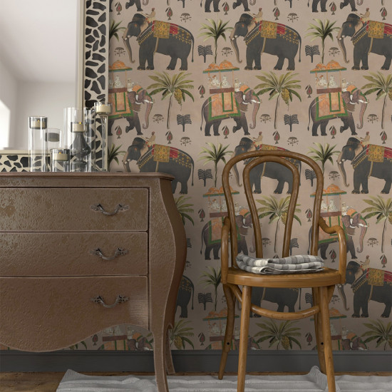 Mind The Gap Procession Taupe Wallpaper