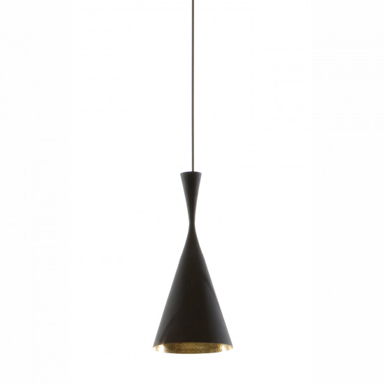 Tom Dixon Beat Tall Black Pendant - Black