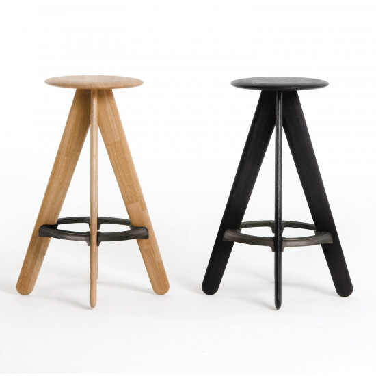 Tom Dixon Slab Oak Bar Stool - Black
