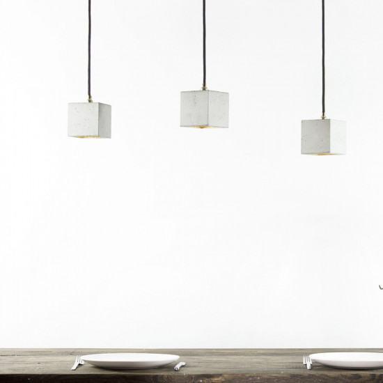 GANTlights B6 Square Concrete Pendant Light