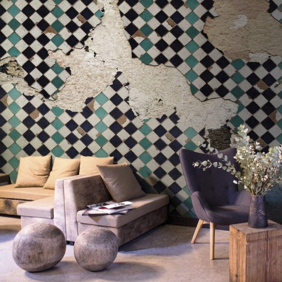 Coordonne Tiles Broken Wall Mural Wallpaper