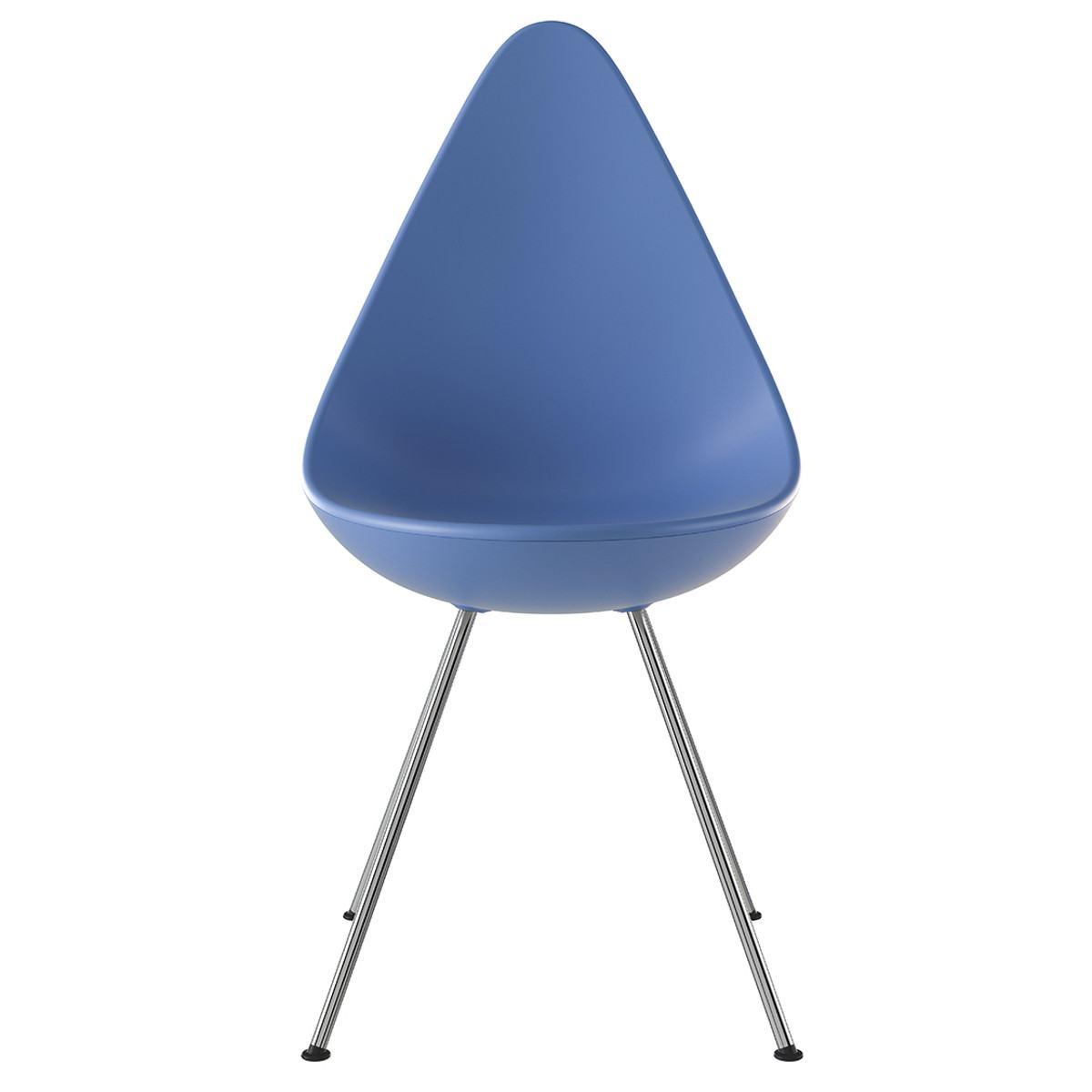 Fritz Hansen Drop Chair - Chromed Steel Base