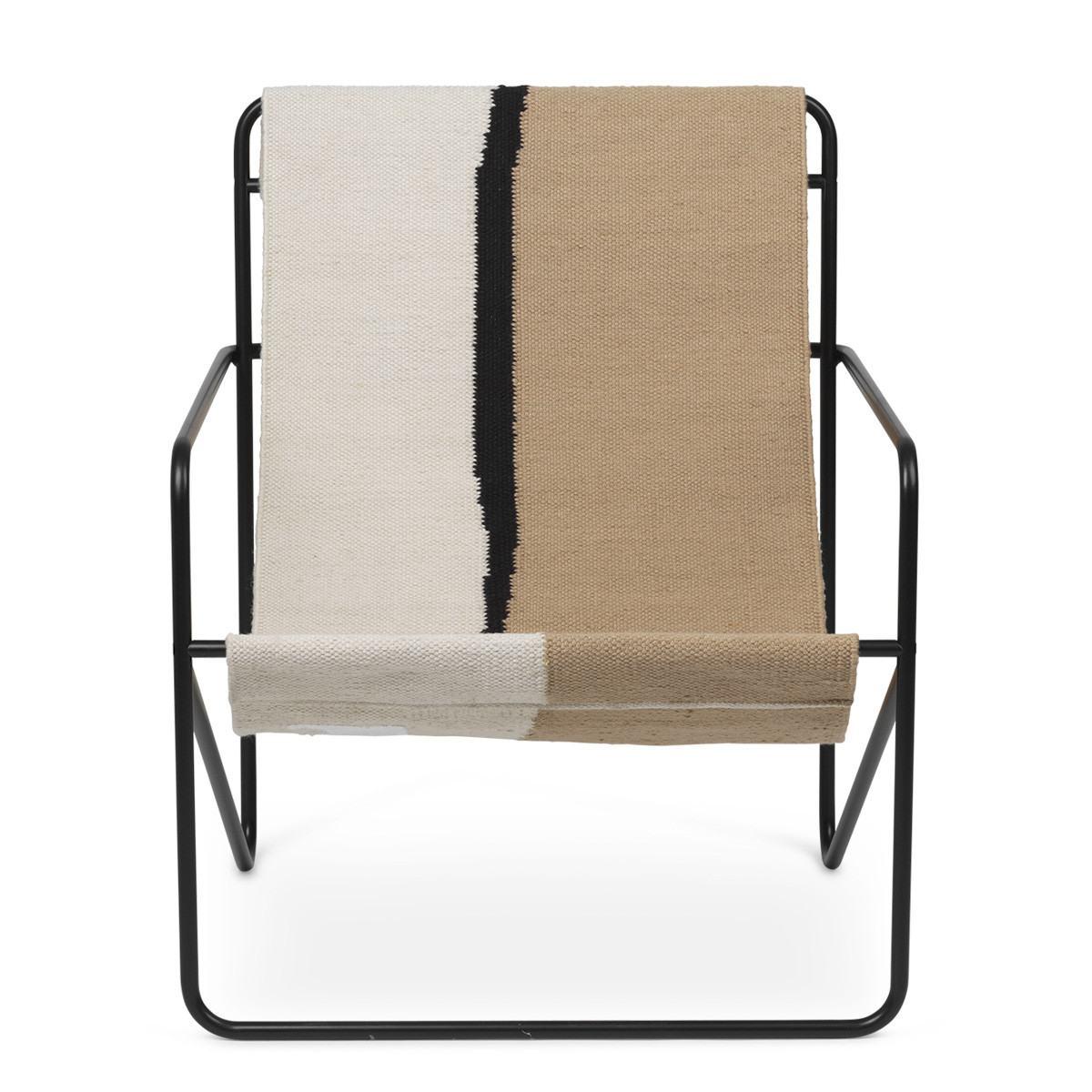 Ferm Living Desert Lounge Chair - Soil-Black