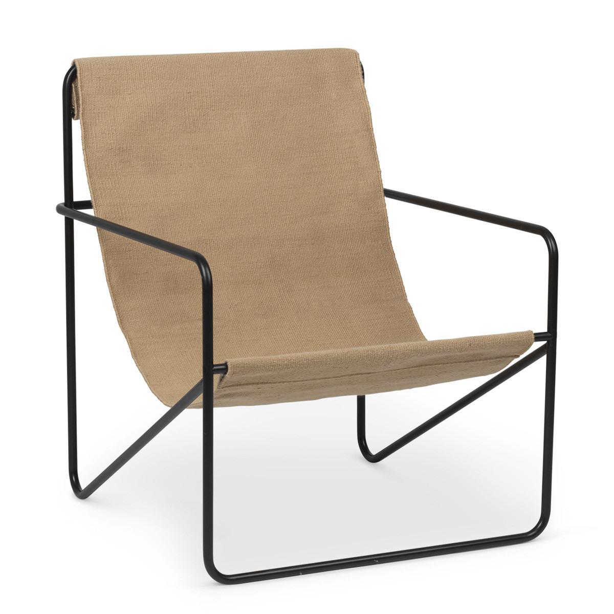 Ferm Living Desert Lounge Chair - Solid-Black