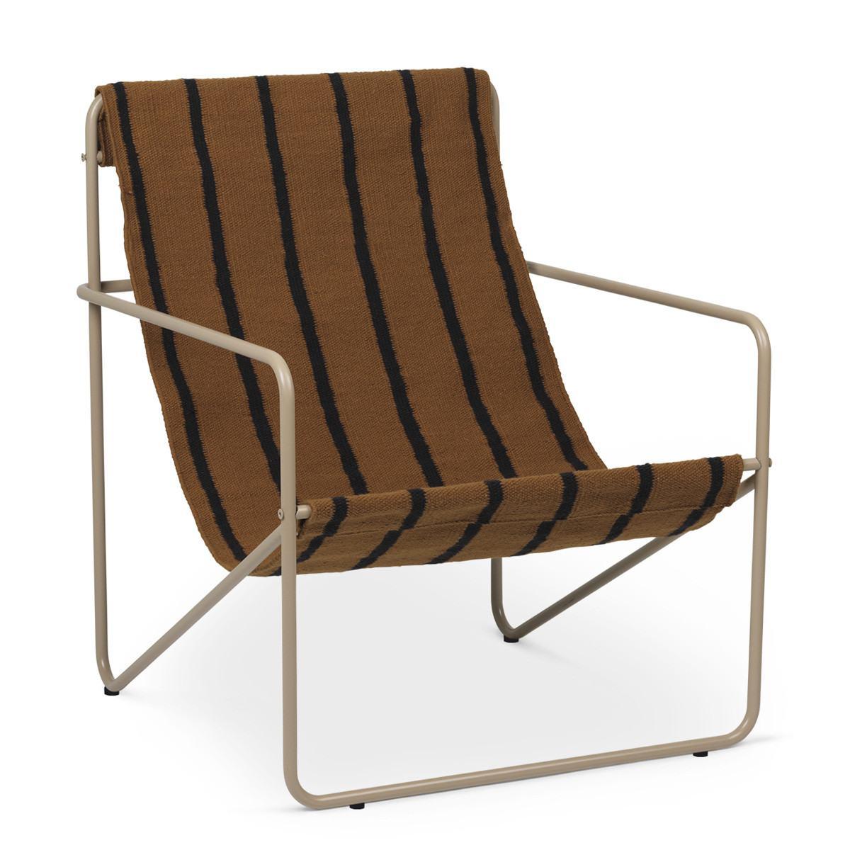 Ferm Living Desert Lounge Chair - Stripes-Cashmere