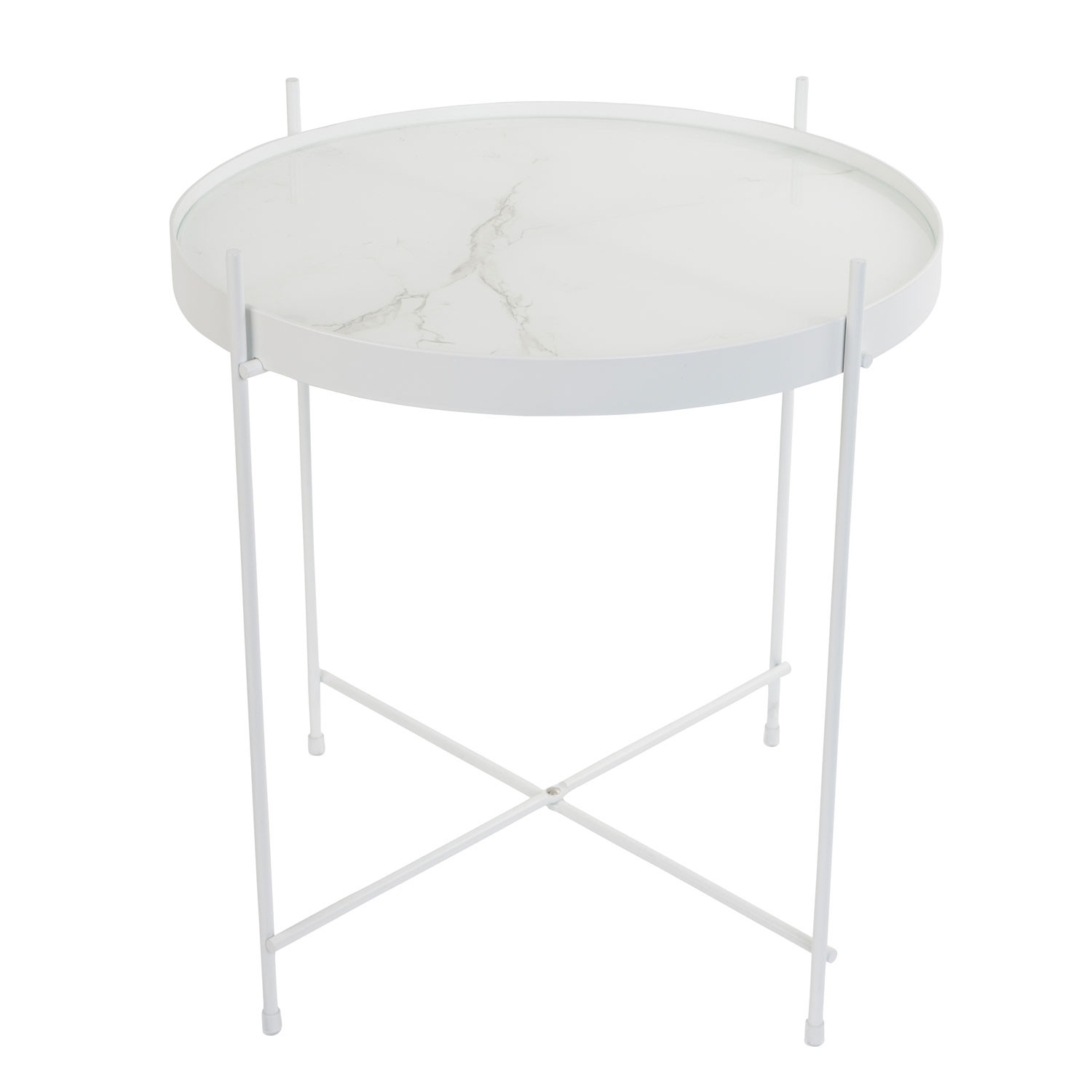 Zuiver Round White Marble Cupid Side Table Marble Furniture Beut Co Uk