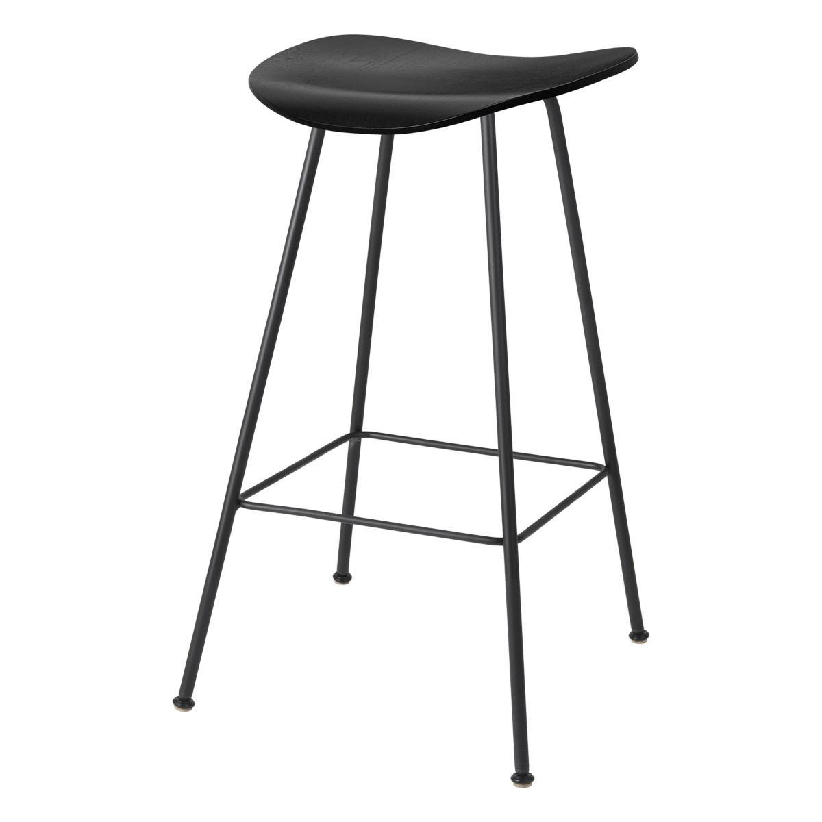 Gubi 2D Counter Stool - Un-Upholstered, 65, Center Base