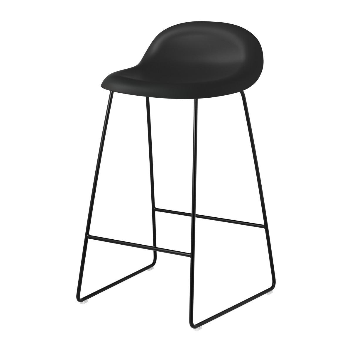 Gubi 3D Counter Stool - Un-Upholstered, 65, Sledge Base