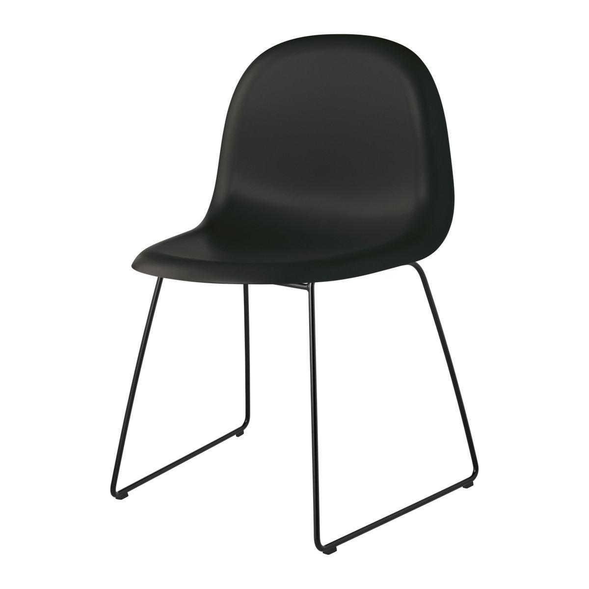 Gubi 3D Dining Chair - Un-Upholstered - Sledge Base, Stackable