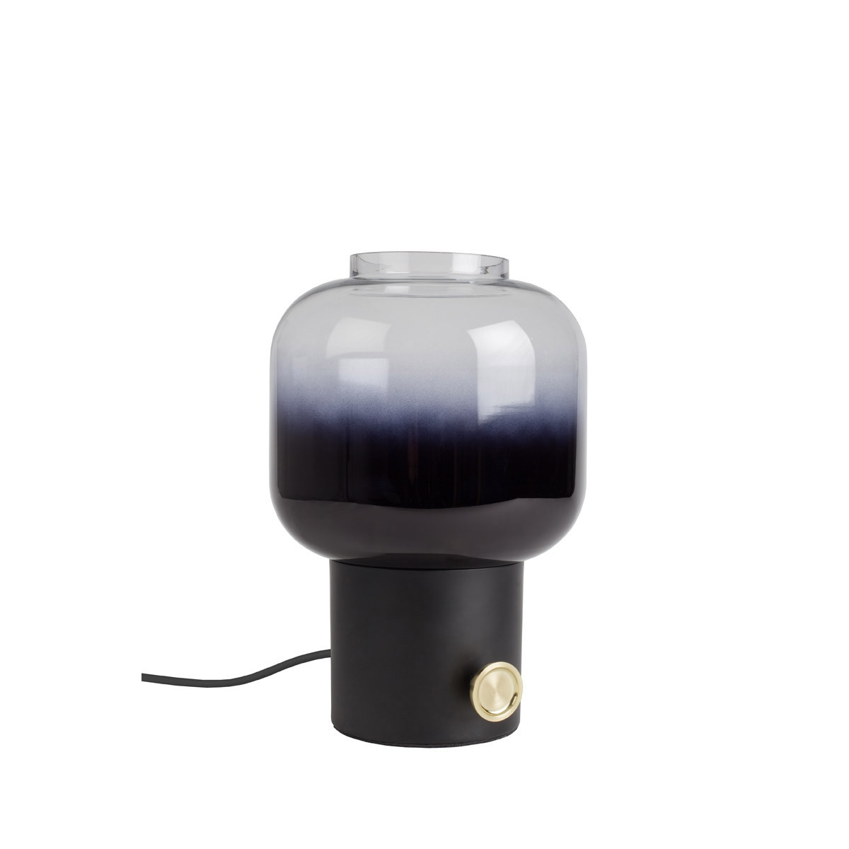 Zuiver Moody Ombre Glass Table Lamp - Black