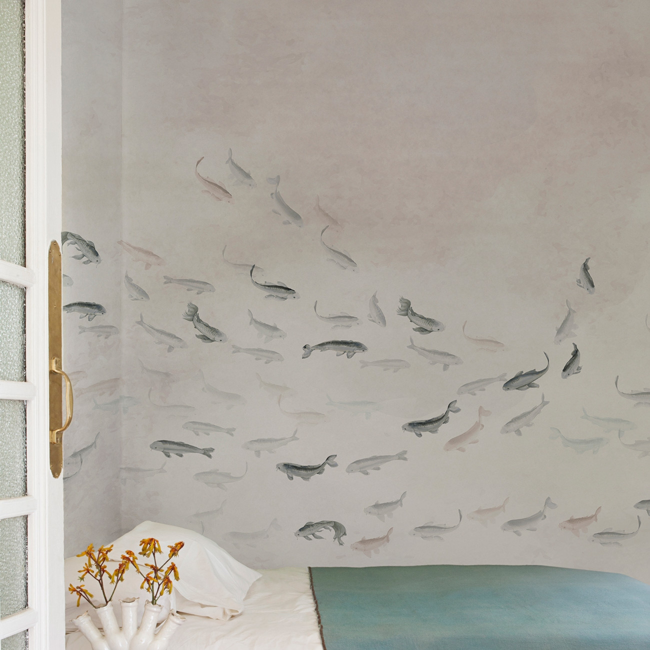 Coordonne Core Koi Mural Wallpaper