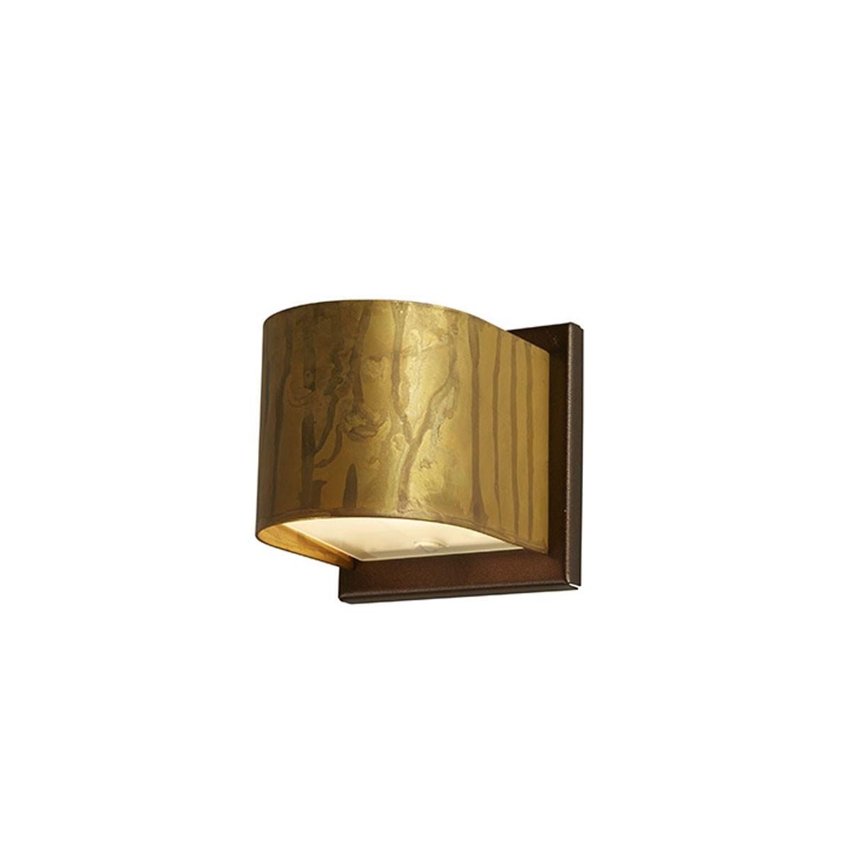 Gibas LOLA Wall Light - Small/Round - Distressed Brass