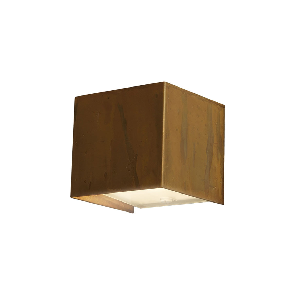 Gibas LOLA Wall Light - Small/Square - Distressed Brass