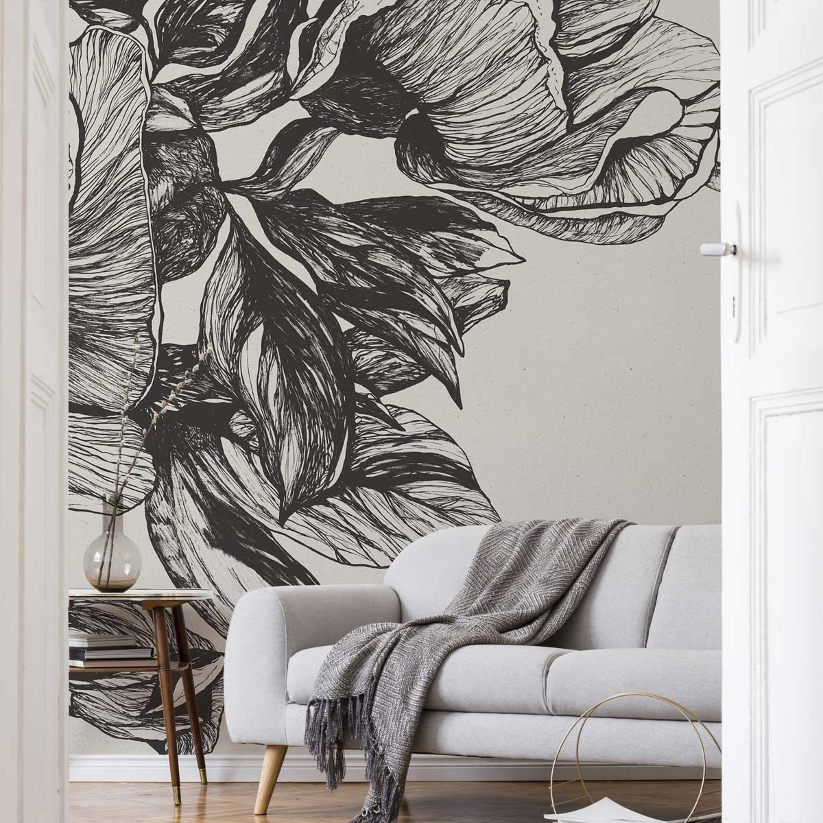 Coordonne Giant Peonies Mural Wallpaper