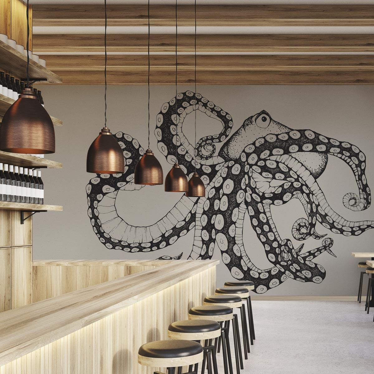 Coordonne Octopus X-Ray Mural Wallpaper