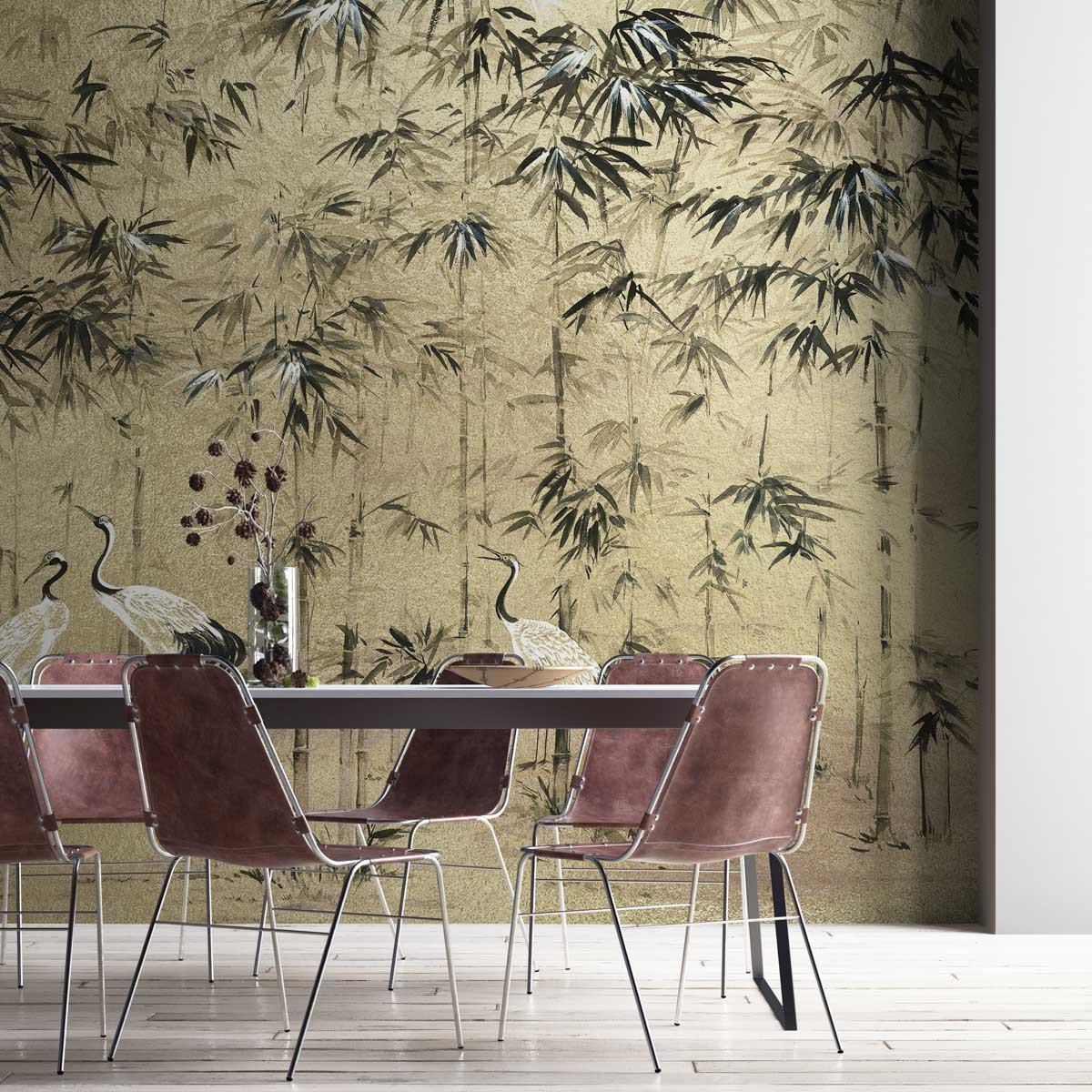 Coordonne Garzas Metallics Mural Wallpaper