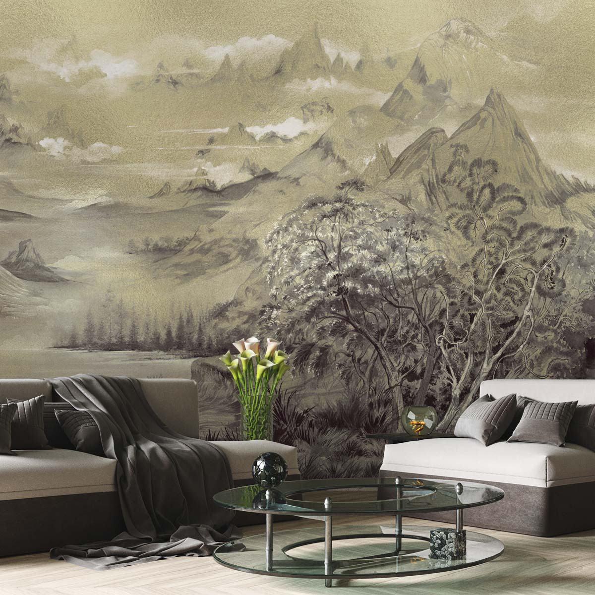 Coordonne Kami Metallics Mural Wallpaper