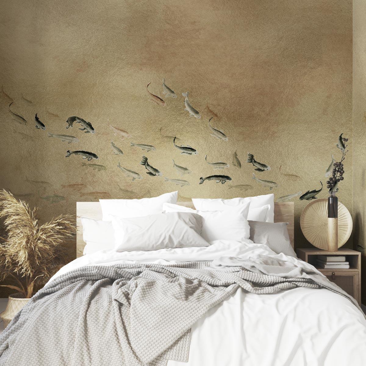 Coordonne Koi Metallics Mural Wallpaper