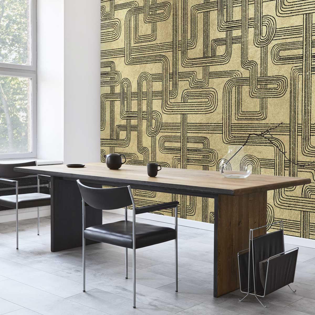 Coordonne Gatsby Metallics Mural Wallpaper