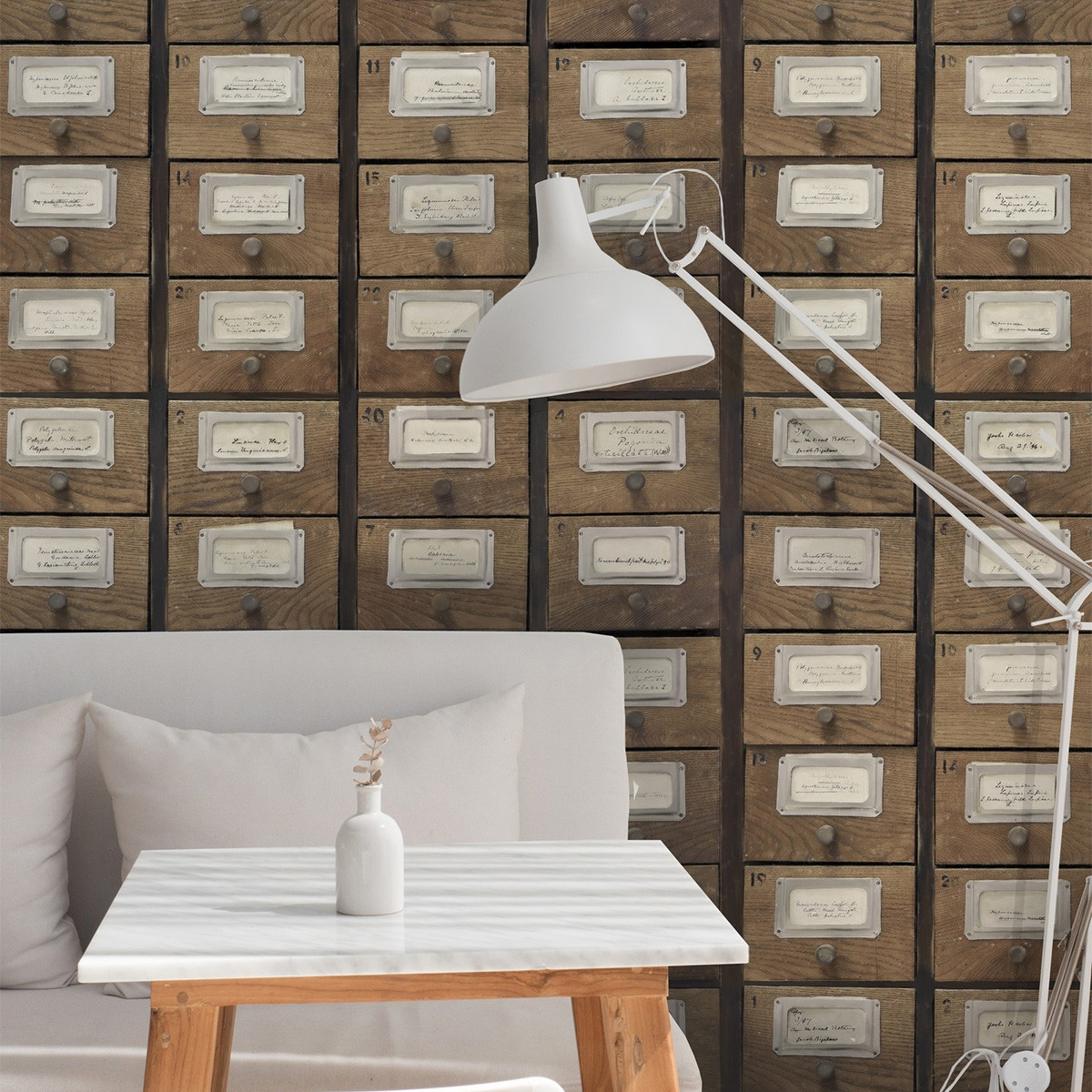 Mind The Gap Apothecary Neutral Wallpaper