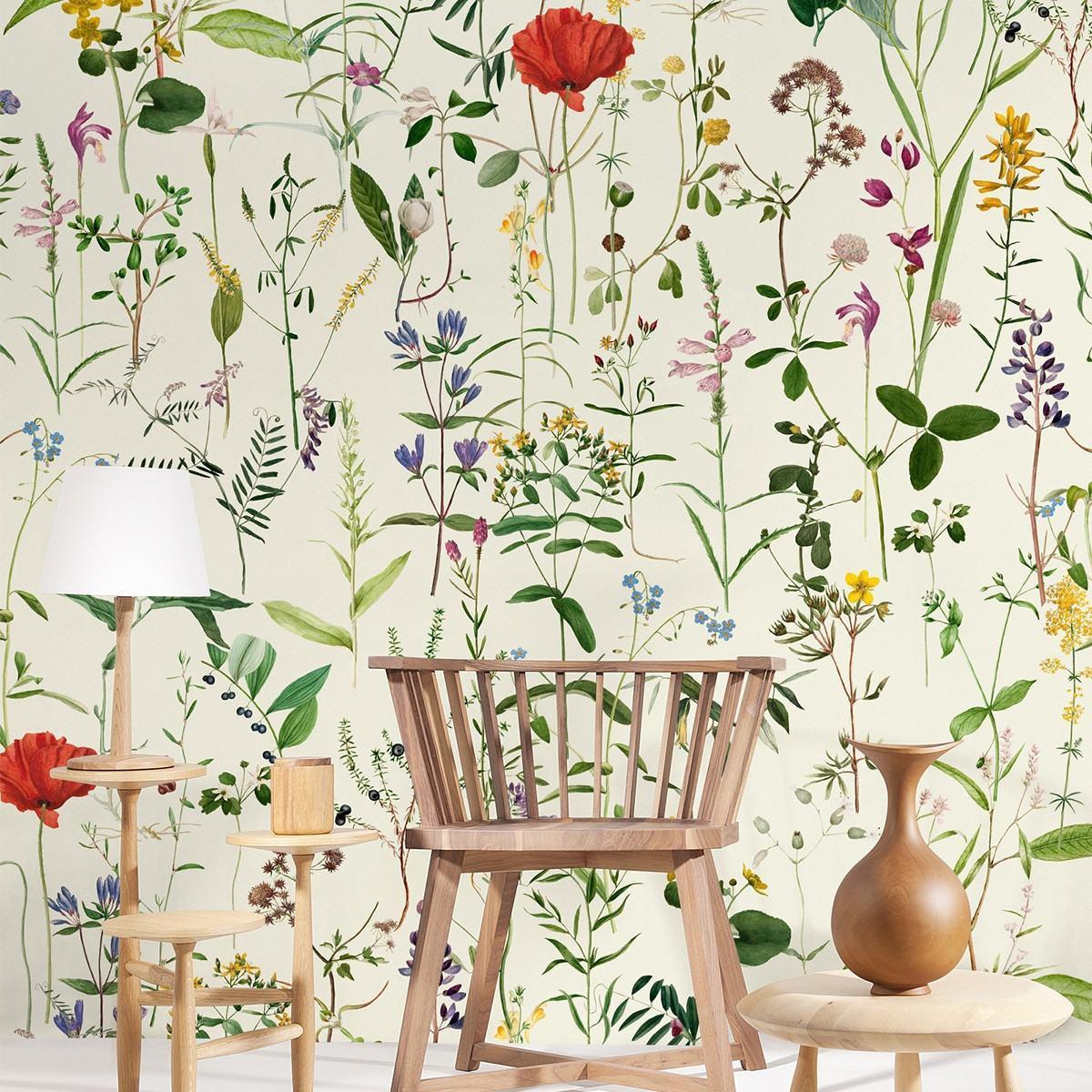 Mind The Gap Aquafleur Floral Wallpaper