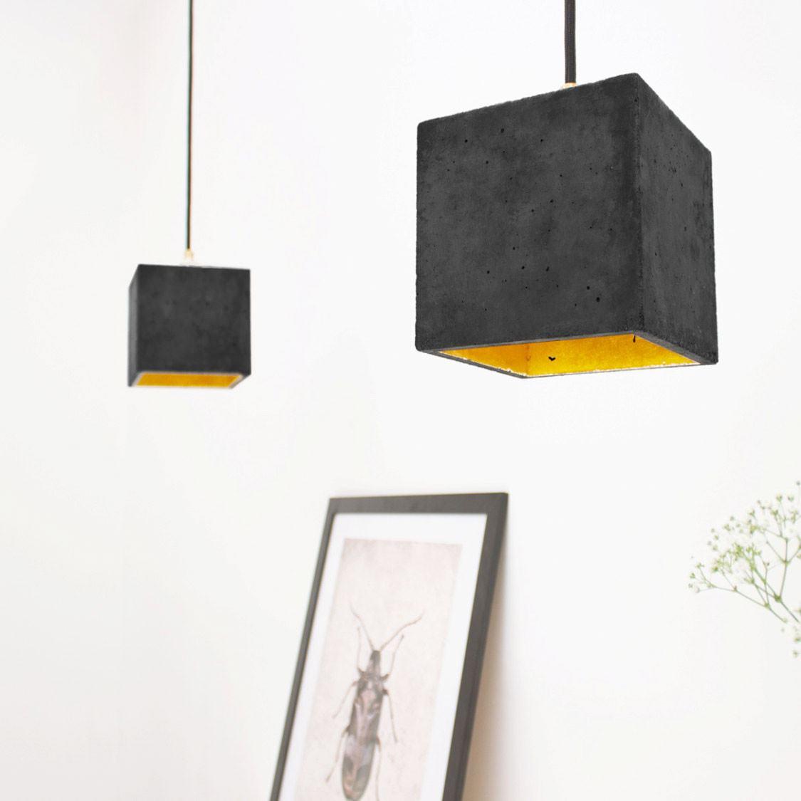 GANTlights B1 Concrete Pendant - Dark