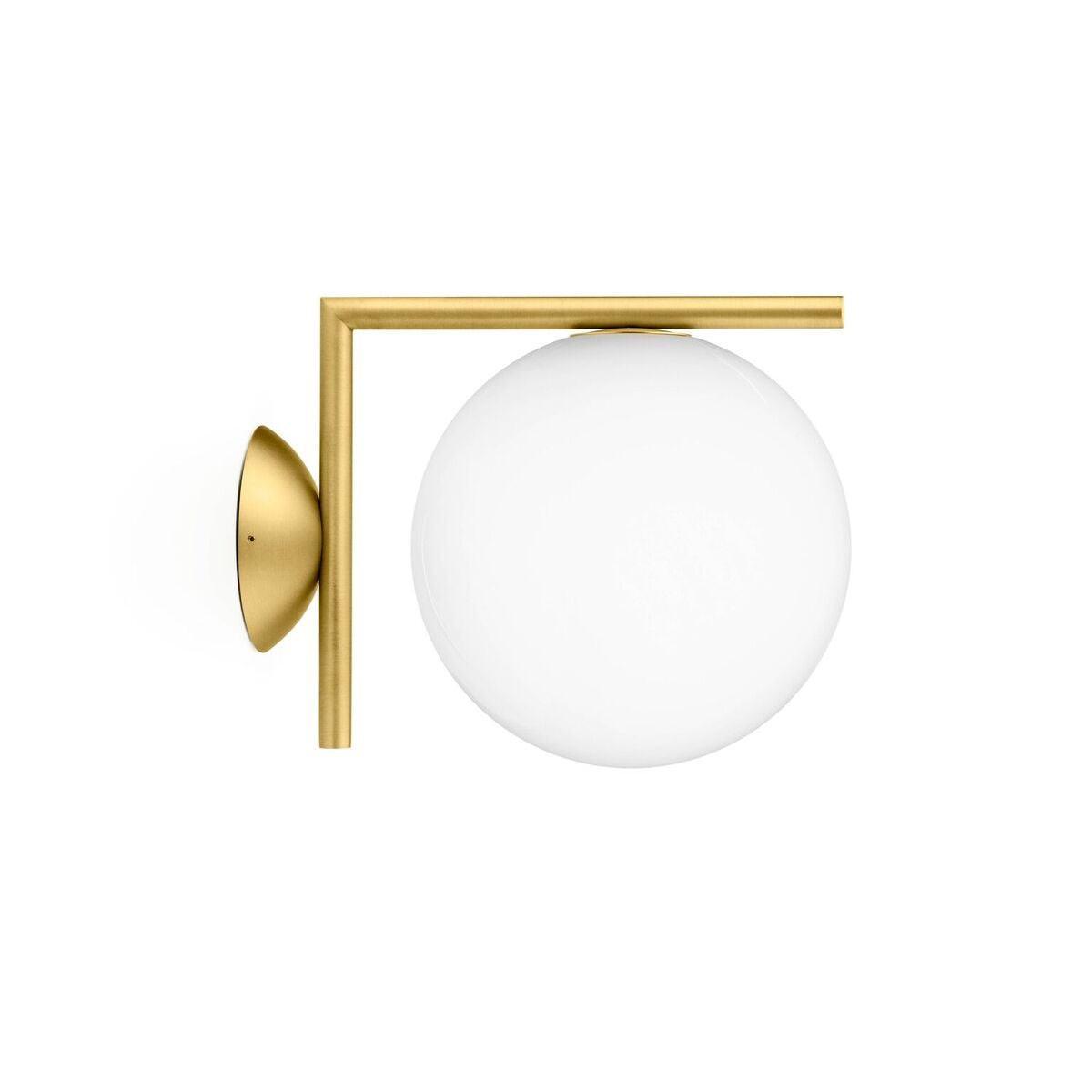 Flos IC C/W1 Ceiling/Wall Light -Brass