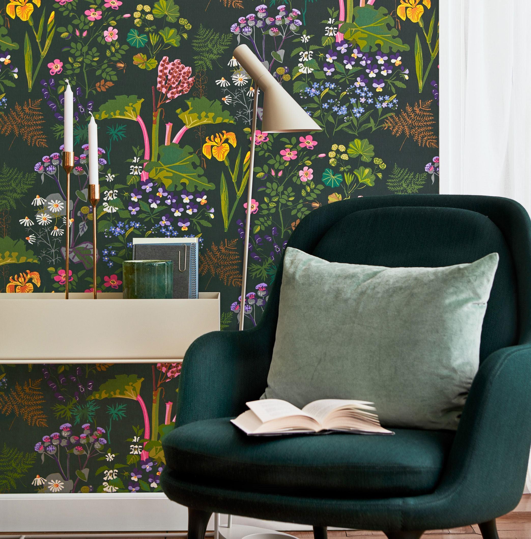 Borastapeter Rabarber Wallpaper
