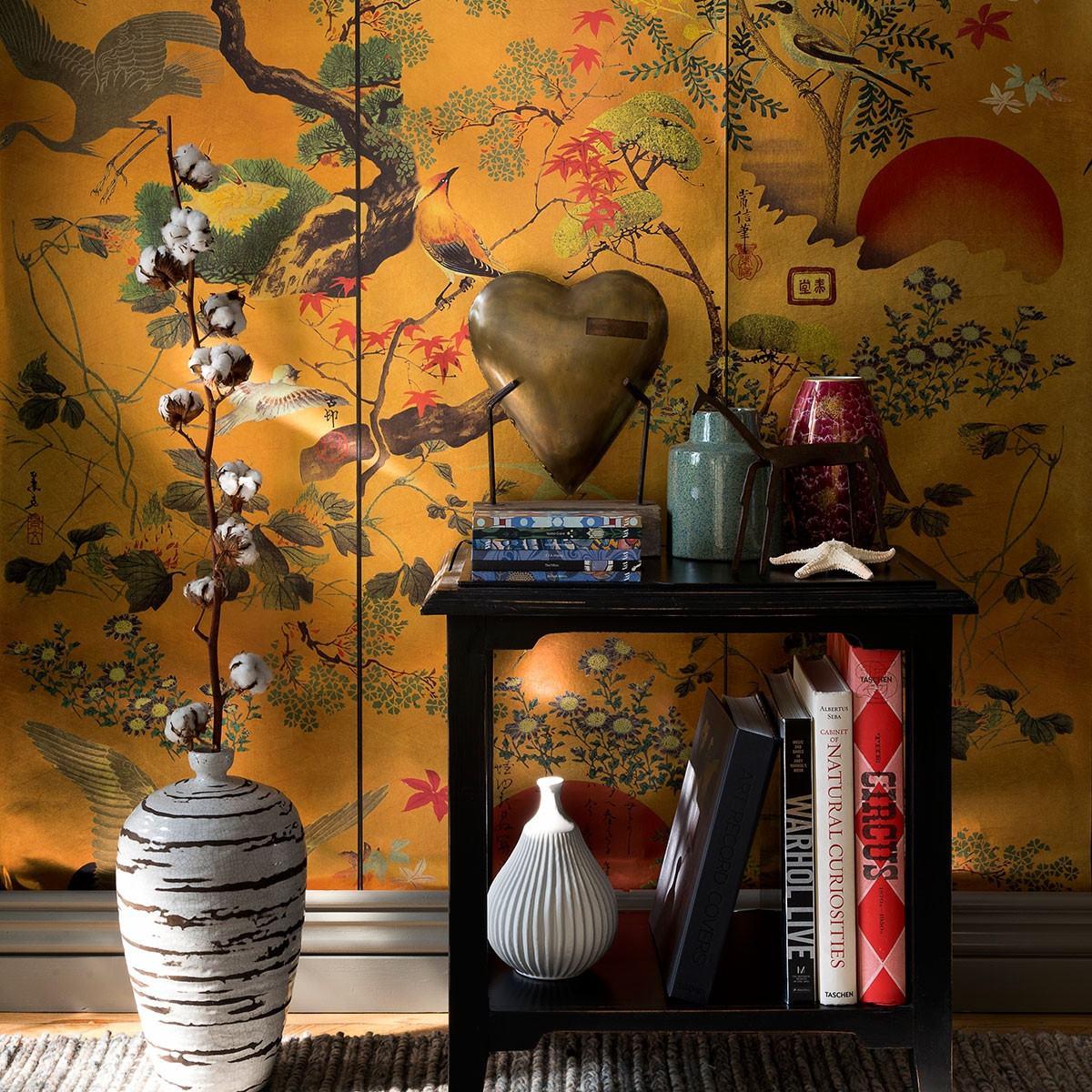Mind The Gap Byobu Wallpaper - Metallic edition