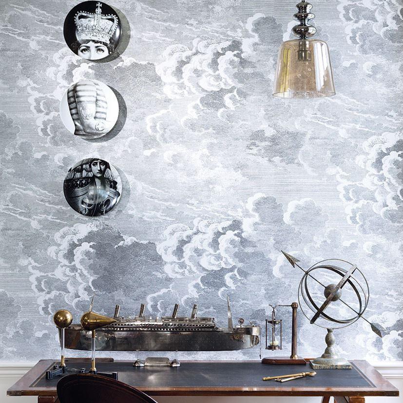 Cole and Son Nuvolette Wallpaper (2 x 10m rolls) - Fornasetti