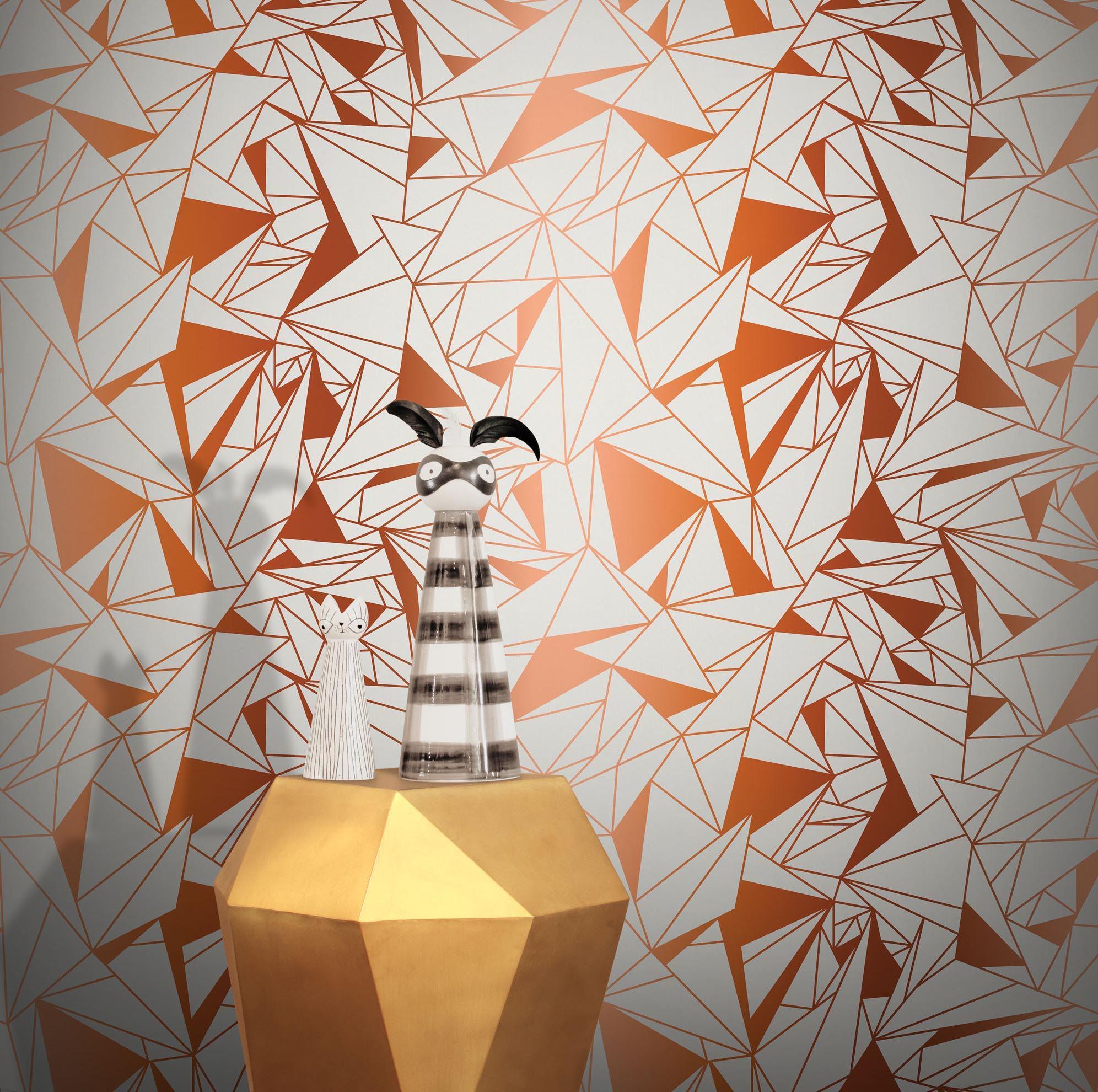 Feathr Crystallise Wallpaper by Glenn Todd