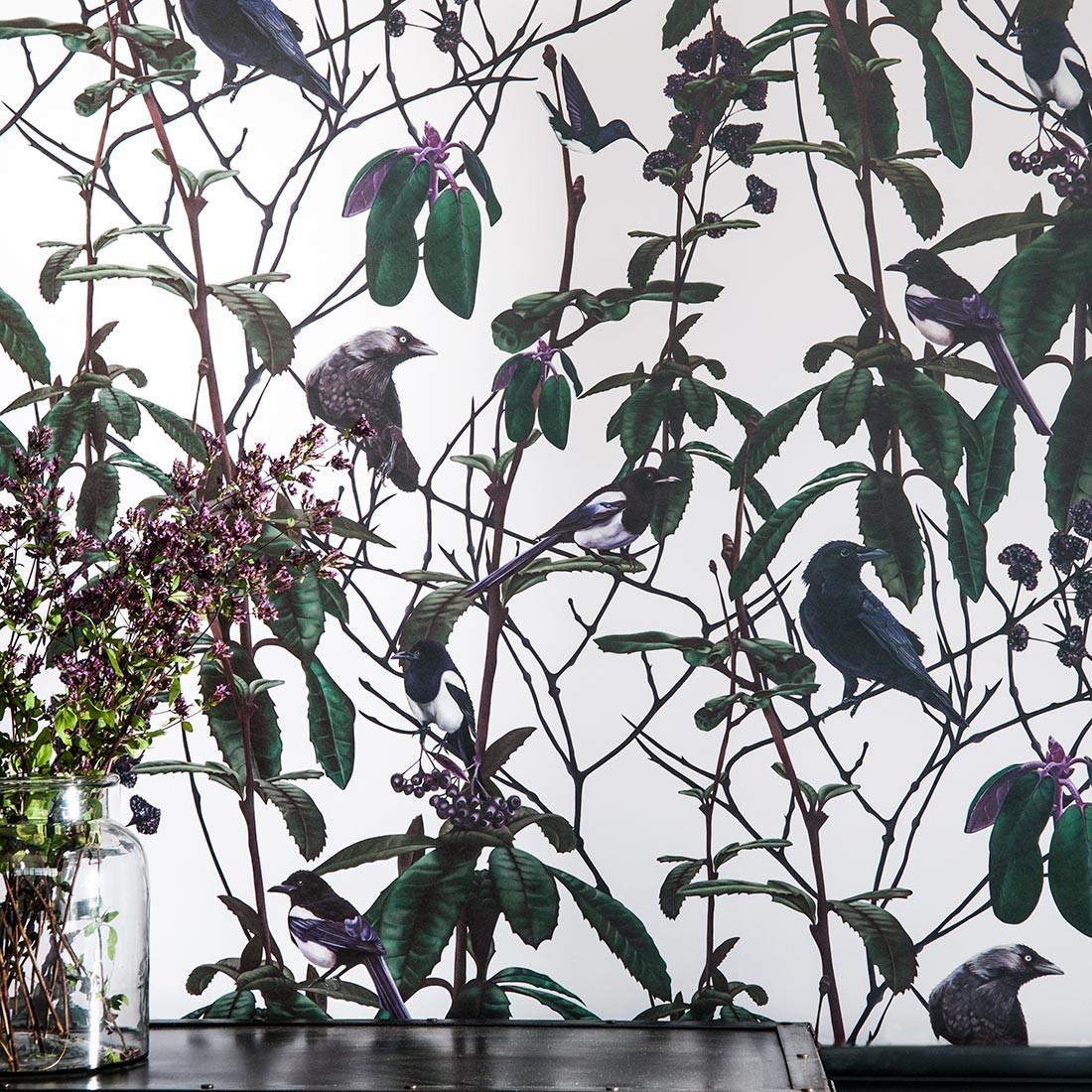 Witch and Watchman Folia Birds Wallpaper