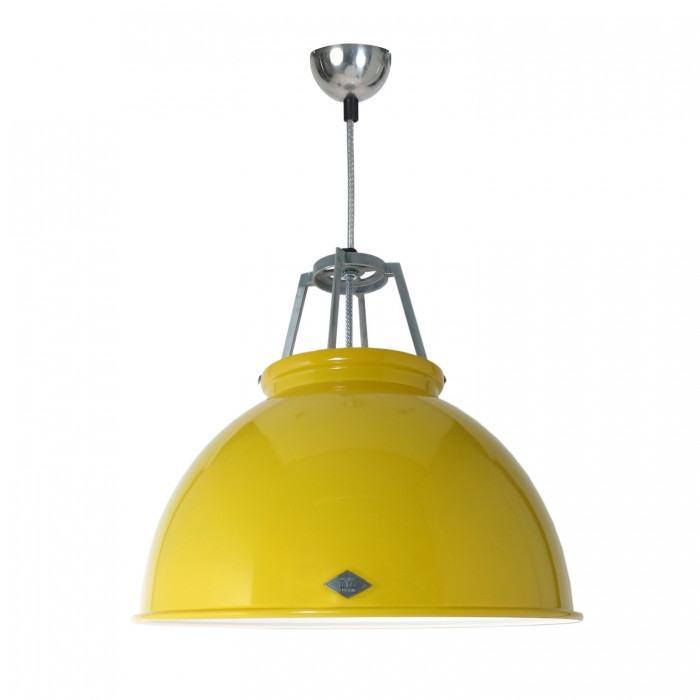 Original BTC Titan Size 3 Pendant Lamp-Yellow with White Interior