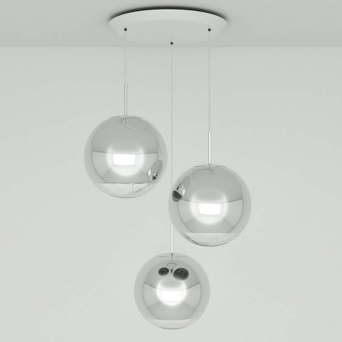 Tom Dixon Mirror Ball 40cm Round Pendant System