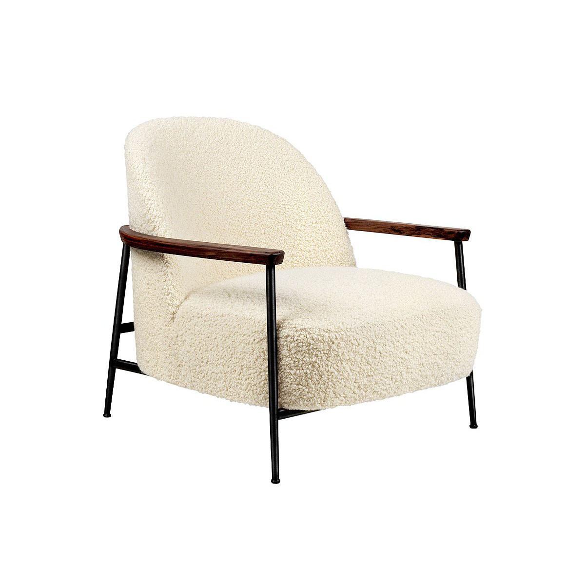 Gubi Sejour Lounge Armchair - Black Base