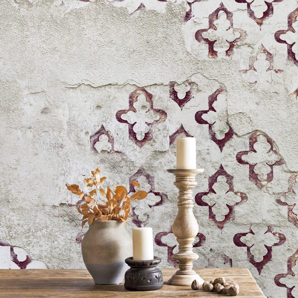 Shabby Chic Wallpaper Uk coordonne stamp mural wallpaper