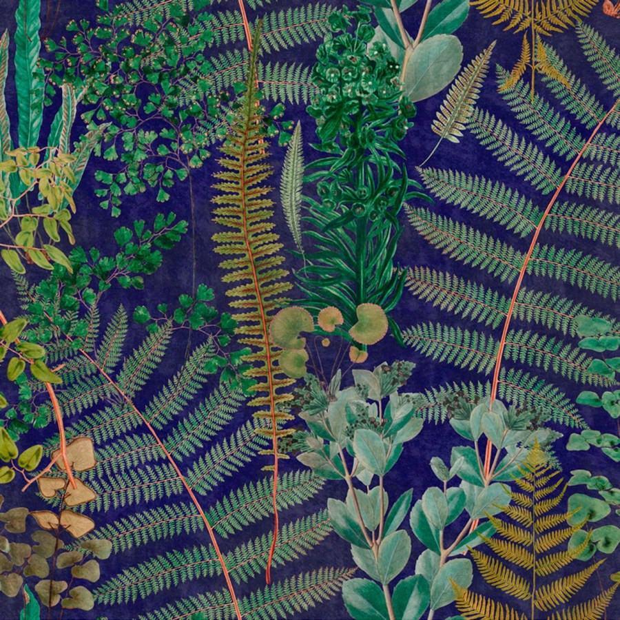 Mind The Gap Sanctuary Floral Wallpaper-Anthracite