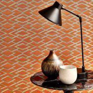 Jane Churchill Geometric Silk Wallpaper
