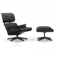 Vitra Eames Lounge Chair and Ottoman - Black Ash (Coated Base)